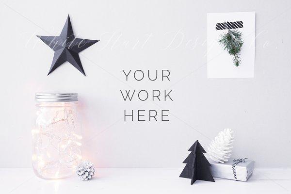 Nordic Christmas styled stock photo