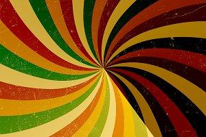 colorful vintage circular sunburst b
