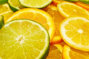 citric fruits background
