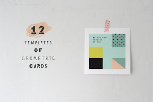 12 cards. Vector & JPEG