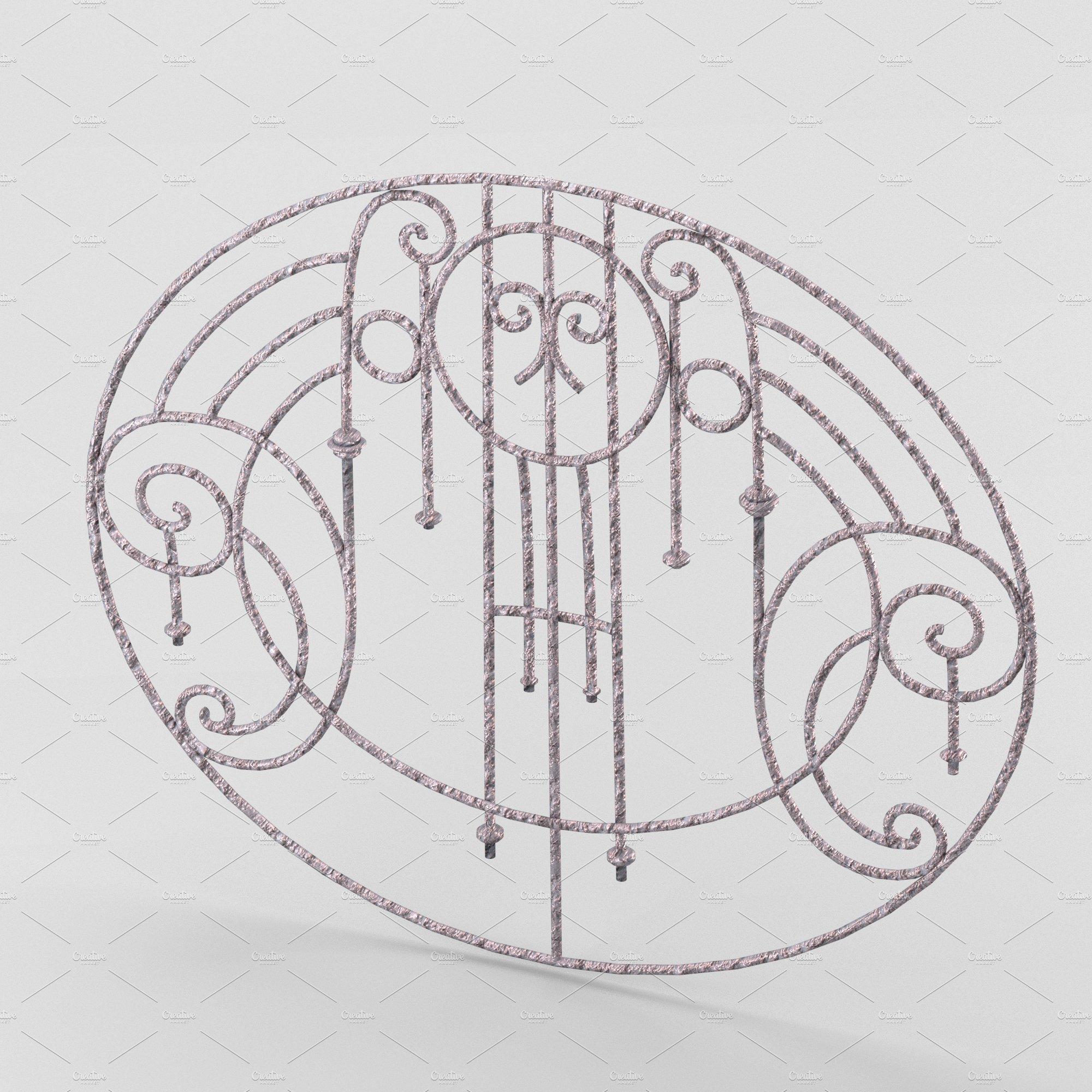 Decorative wrought iron lattice ~ Objects ~ Creative Market