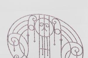 Decorative wrought iron lattice