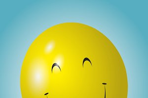 Yellow happy balloon