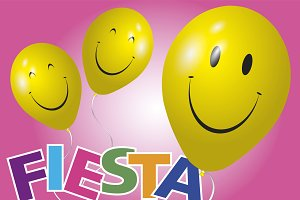 Happy yellow balloons fiesta