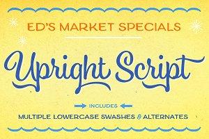 Ed's Market Upright Script