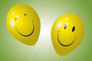 Happy yellow balloons