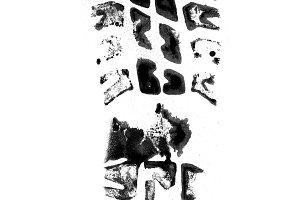 shoe print background