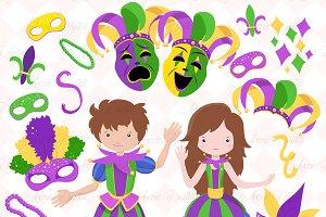 Mardi Gras Clipart - Vectors