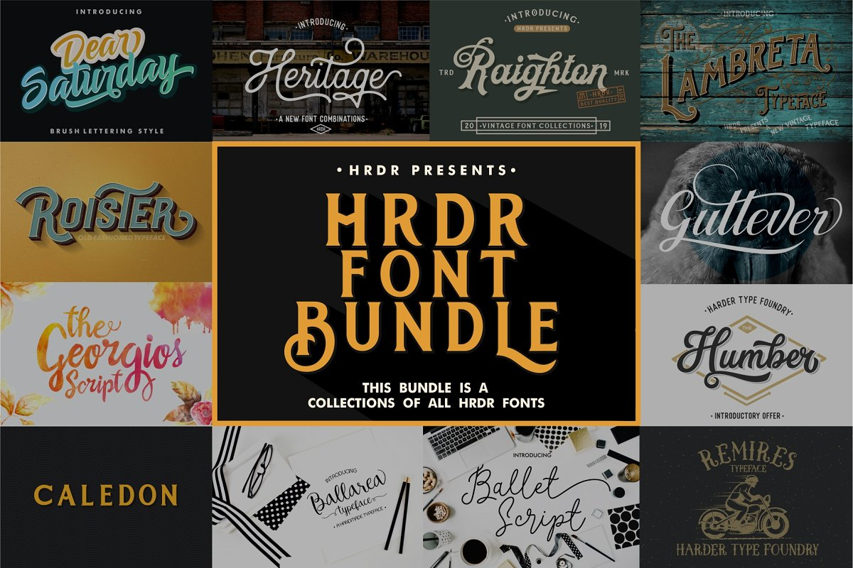 HRDR FONT BUNDLE! in Display Fonts - product preview 8