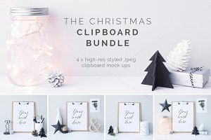 The Christmas clipboards x4 - BUNDLE