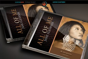 Leather CD Artwork Template