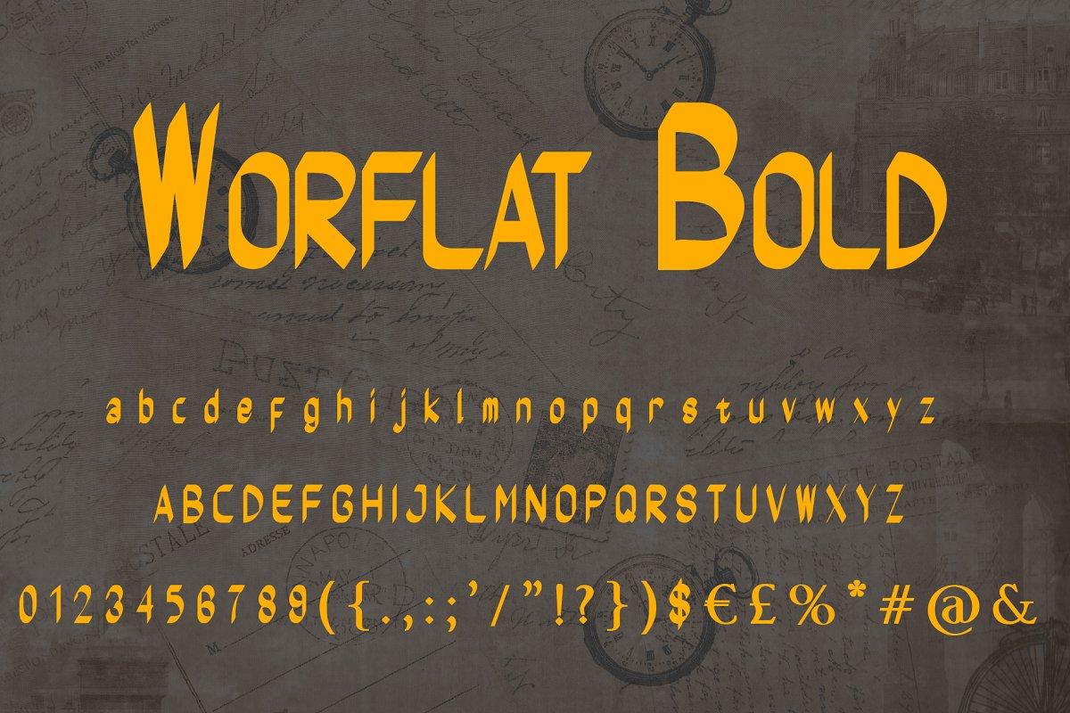 Worflat Style Font
