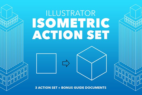 Illustrator Isometric Action Set