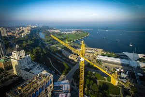 [AERIAL] Crane - Milwaukee