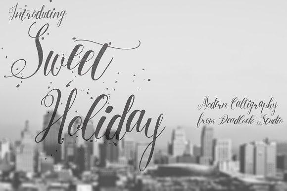 Sweet Holiday Script Fonts Creative Market