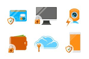 Electronic devices & security icons
