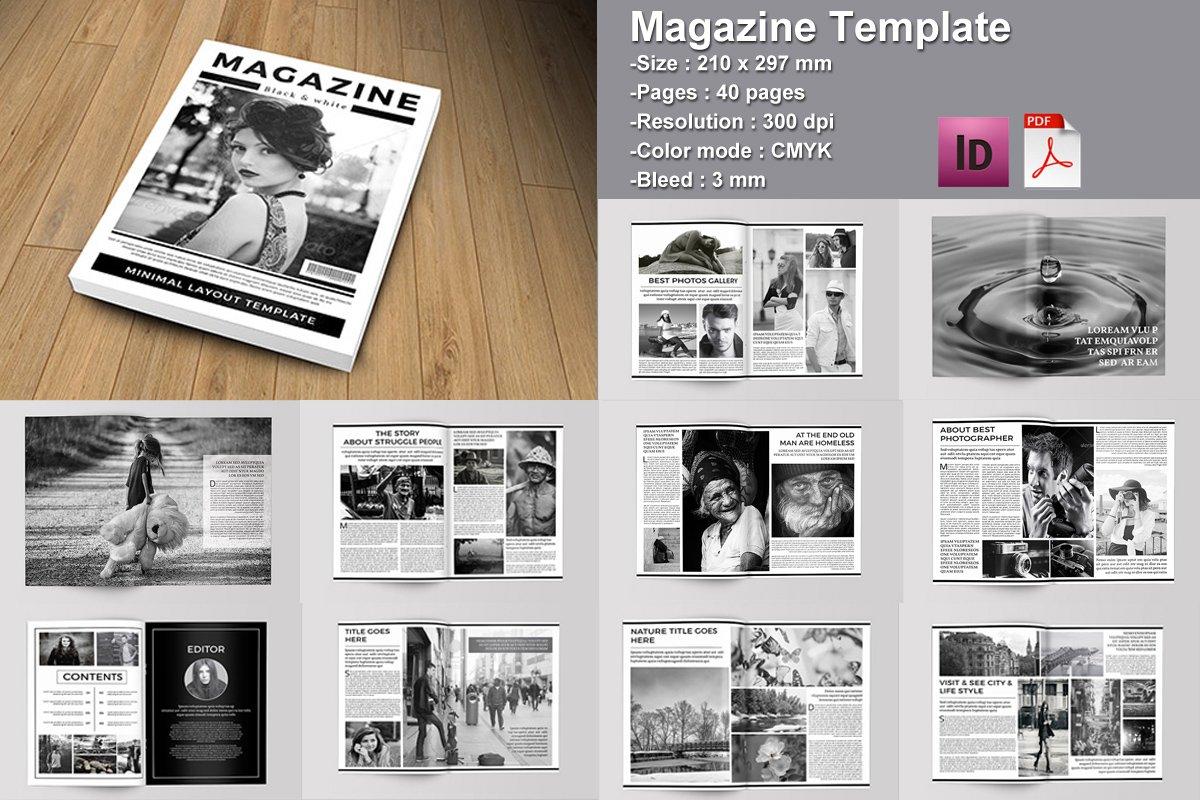 InDesign Magazine Template-V02 ~ Magazine Templates ~ Creative Market