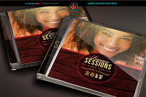 Summer Sessions CD Artwork Template