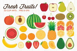 Fresh Fruit Clip Art