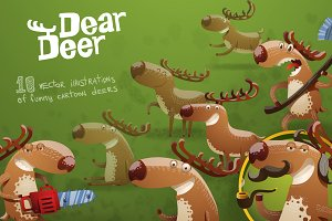 Dear deer bundle, vector