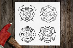 Fire department emblems and patches