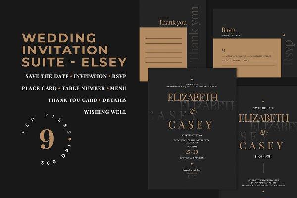 Wedding Invitation Suite - ELSEY