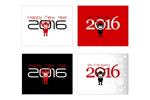 2016 New Year Set of 22 Cards!