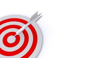 dart on aim concept background