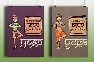 Yoga banners.