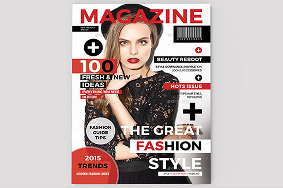 Magazine Cover Template Creative Indesign Templates Creative Market