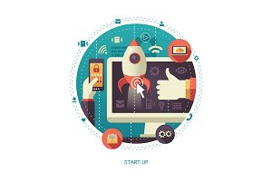 Startup Flat Design Illustration