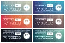 Gift voucher template with clean