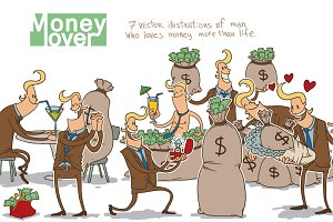 Money lover bundle, vector
