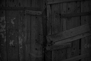 black wooden background