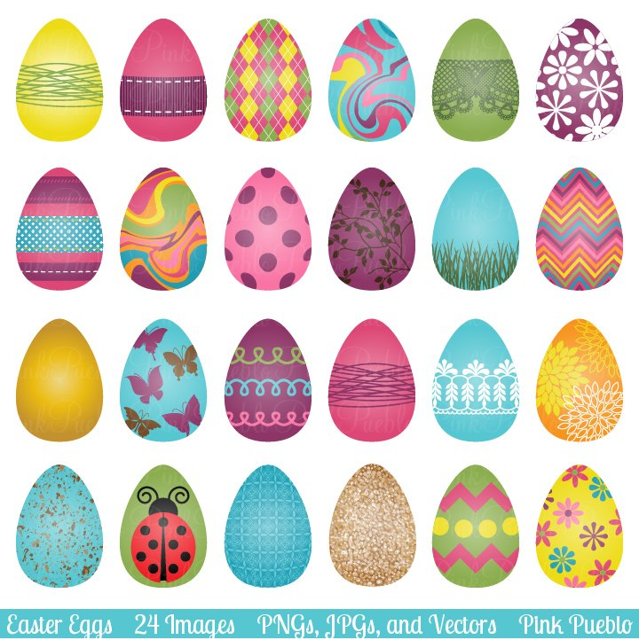 Easter Eggs Clipart and Vectors ~ Illustrations ~ Creative ... Easter Clip Art Free Small