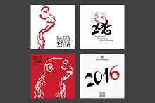 Calligraphy 2016 Happy New Year Card