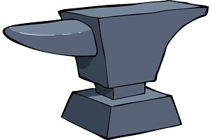 Cartoon anvil