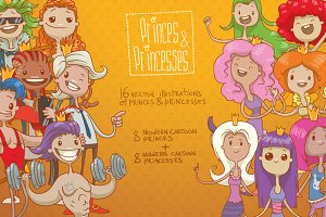 Princes&Princesses bundle, vector