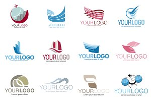 Travel agencies set vector logo