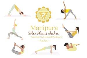 yin yoga postures bundle  predesigned photoshop graphics