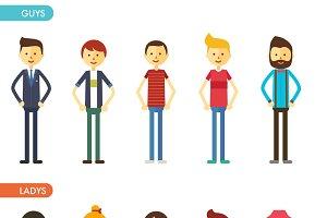 Сasual set characters