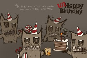 unHappy Birthday bundle, vector