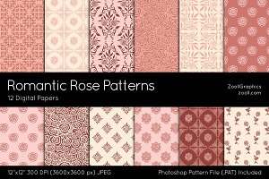 Romantic Rose Digital Papers