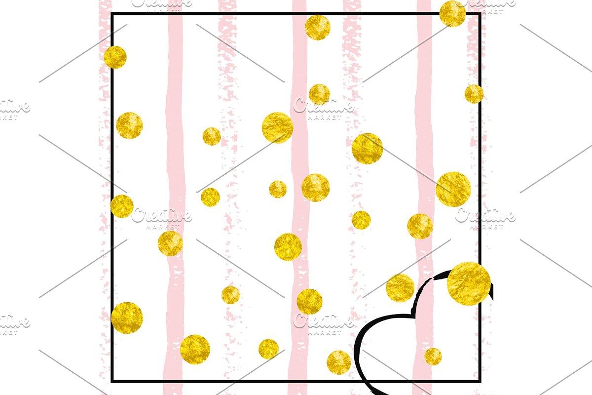 Gold glitter confetti with dots
