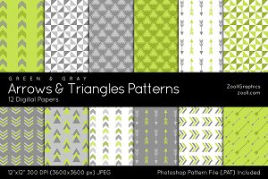 Arrows And Triangles Digital Papers