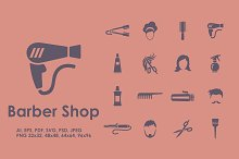 16 Barbershop icons
