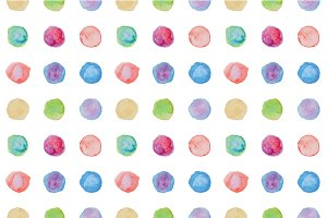 Simply watercolor dots patterns