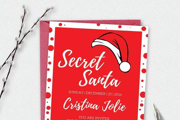 Secret Santa Holiday Bash Card