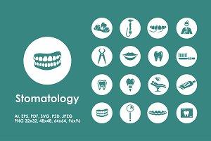 16 stomatology icons