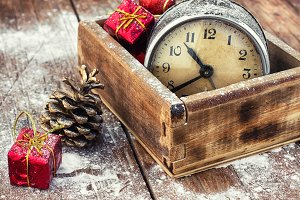 Christmas with an old alarm clock